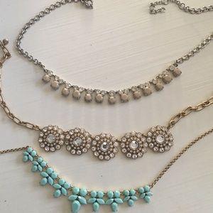 Trio of j crew necklaces